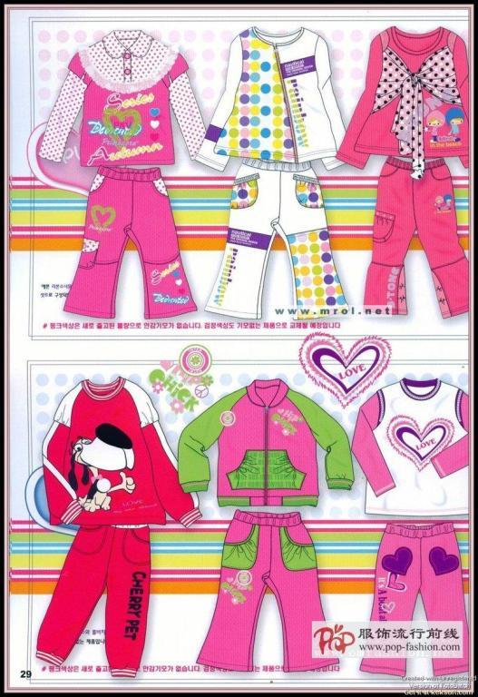 07韩国童装设计手稿及款式16