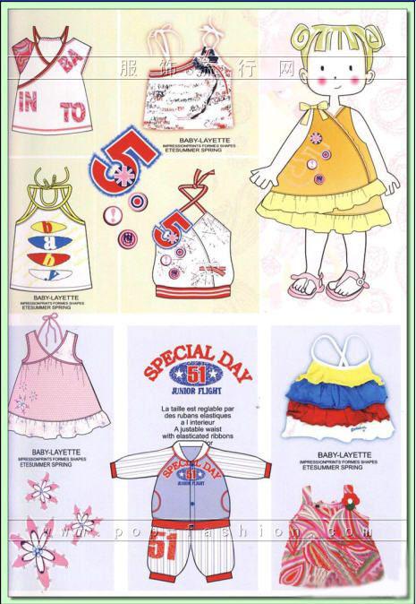 欧美6-12岁春夏童装设计手稿(13)
