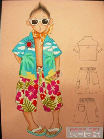 超级可爱的手绘童装(二)_服装设计 - 中国童装网