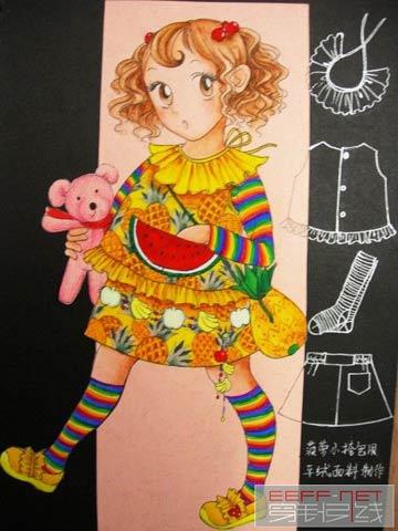 超级可爱的手绘童装(一)