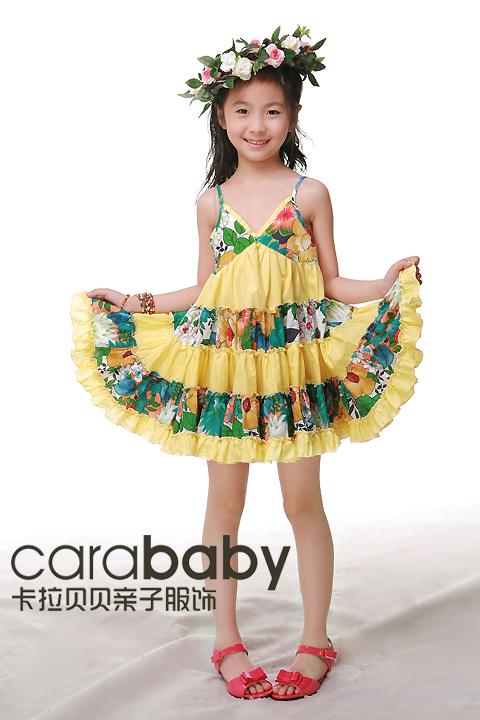 卡拉贝贝09夏季森林公主母女系列