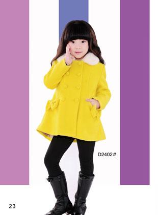 蝴蝶果童装冬季新款毛呢外套(7)