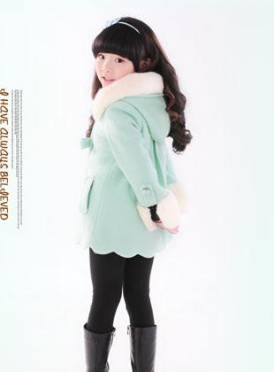蝴蝶果童装冬季新款毛呢外套(2)