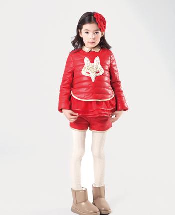 福童宝贝色彩童装――红色