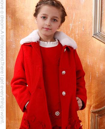 空中天使童装毛领外套