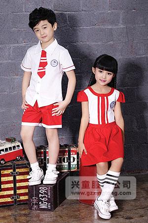 2016幼儿园夏季校服最新款式定做-兴童园服xt162316#ab