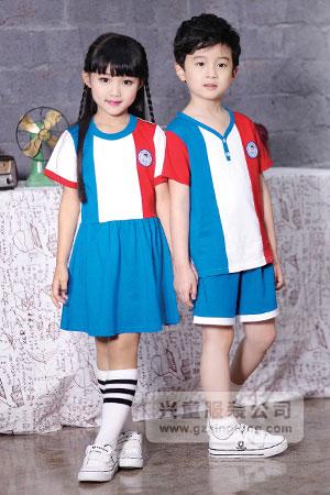 2016幼儿园夏季园服最新款式定做-兴童园服xt162317#ab