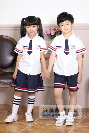 2016新款夏季幼儿园服装图片-兴童园服xt162310#ab