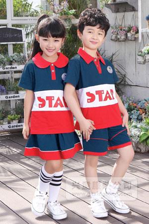 2016新款夏季幼儿园园服图片-兴童园服xt162311#ab