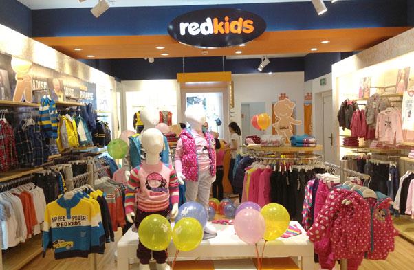 红孩儿童装实体店铺图