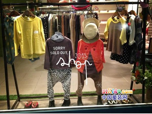 chichikaka童装品牌店铺形象