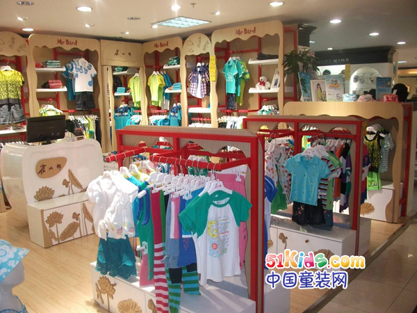 雀太郎童装品牌店铺形象