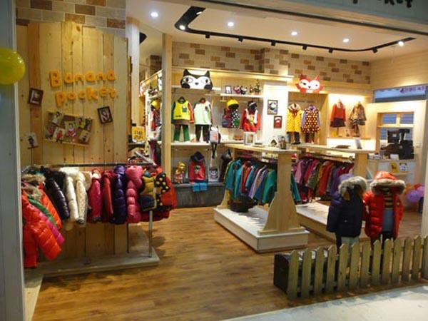 芭拿娜服酷童装品牌店铺形象