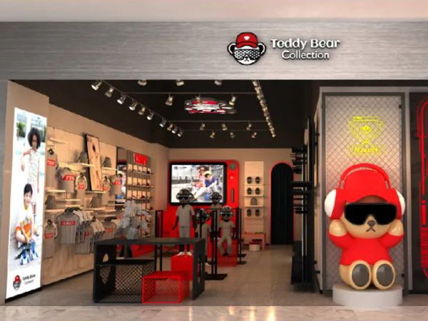 泰迪熊童装品牌店铺形象