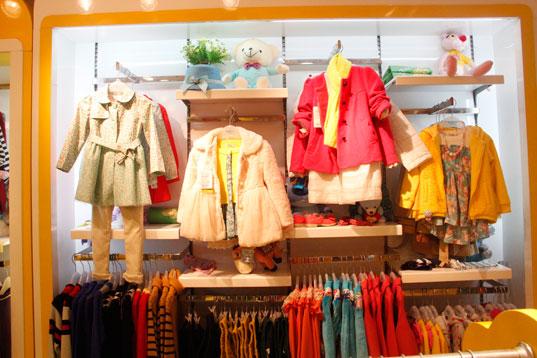 小喇叭童装品牌店铺形象