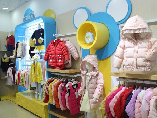 贝乐鼠童装2016店铺陈列