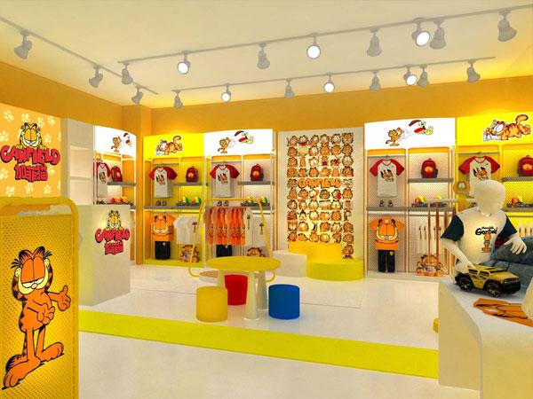 加菲猫童装品牌店铺形象
