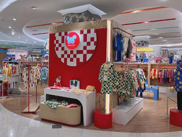 貝貝品諾童裝品牌店鋪形象