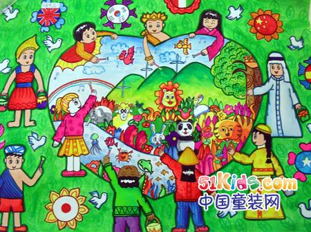 """美术比赛图画的模板;; """"我绘七彩童年""""首届儿童绘画获奖名单公布啦图片"""