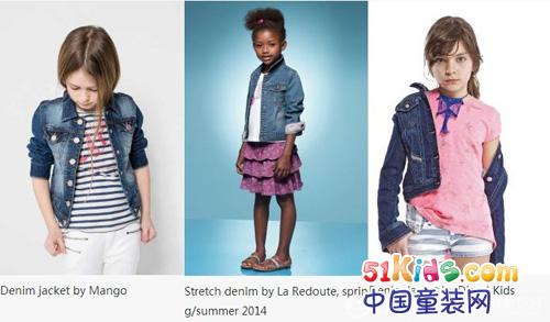 2015春夏女童装牛仔夹克设计趋势