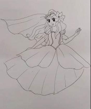 超萌可爱公主简笔画