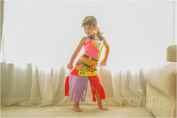 四岁天才萝莉的服装设计