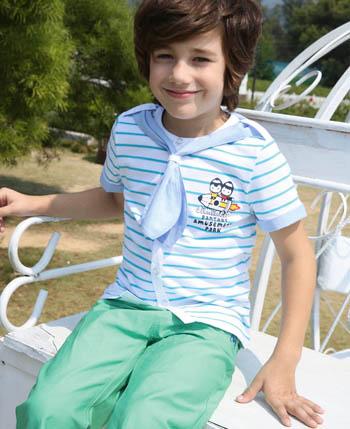 杰米兰帝童装之彩条纹旋转夏日清凉