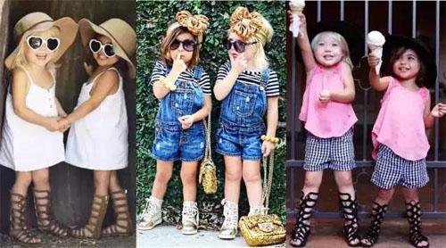 2岁的好伙伴,姐妹就要穿的像花一样