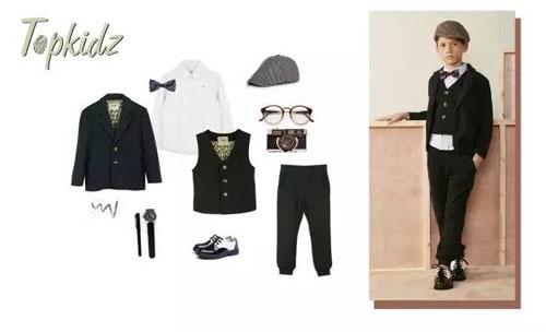 【topkidz新品】休闲或正装,他都是校园时尚小绅士!