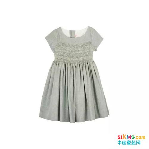 似简约的褶皱连衣裙