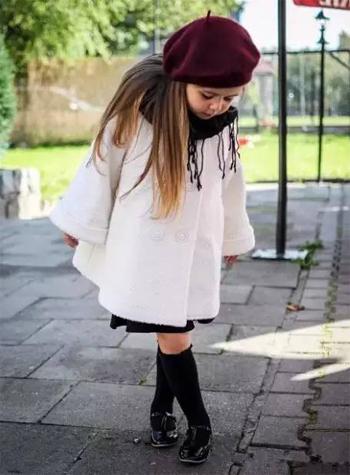 潮童的冬季淑女装扮!