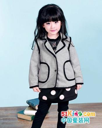 2015女童秋冬外套 6-7岁女童外套搭配
