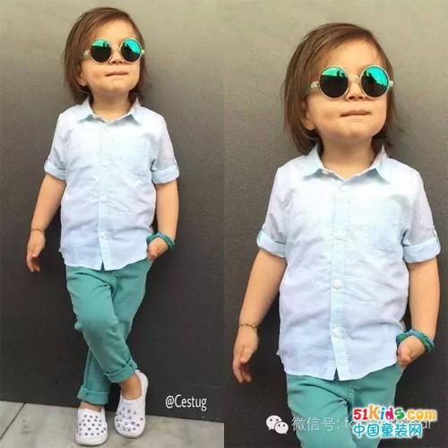 穿好衬衫,做枚夏日小小型男!