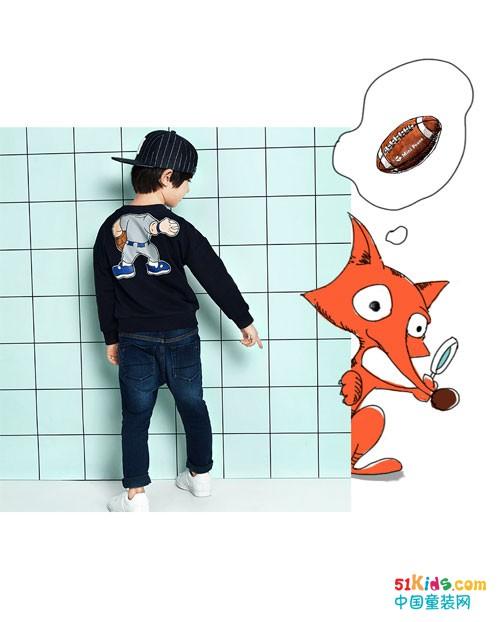 """""""小米指点着小狐狸 等我长大了,我要成为橄榄球选手 她想装作一只小"""