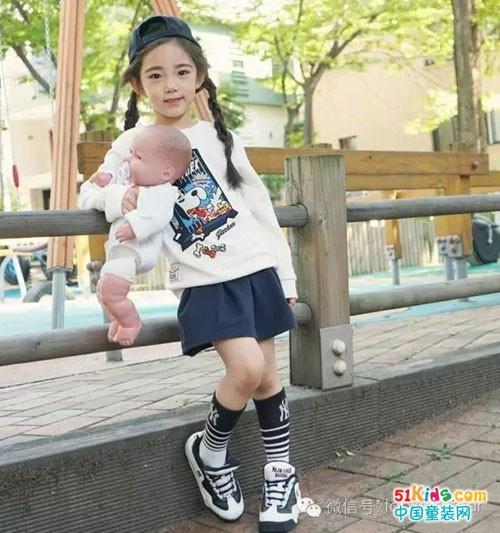 韩国小美女恩采的时尚穿搭,童模就要这么有范!