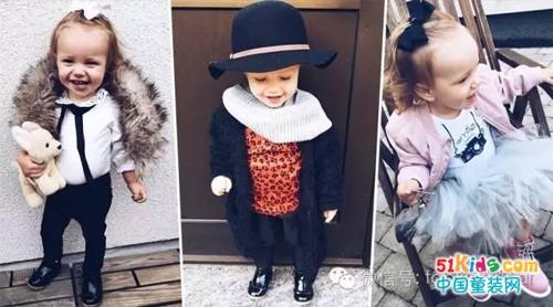 小小年纪又萌又时尚!2岁小妞的冬季穿搭日志