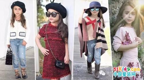 6岁潮妞的吸睛穿搭范,个性&优雅都能hold住