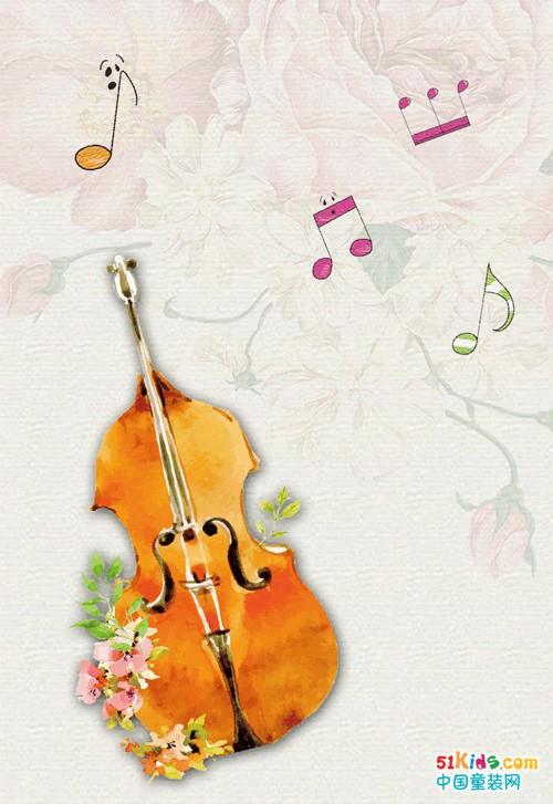 一把古典的吉他 一只可爱的小熊 一幅童趣的装饰画 一本记忆中的童话