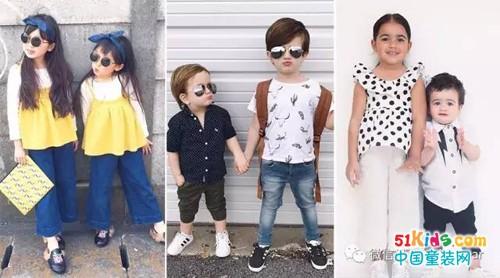 他们的时尚搭配太酷炫,兄弟装姐妹装和姐弟装都齐了!