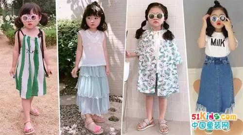 为女儿的时尚方向做好准备,小美妞的清新派穿搭!