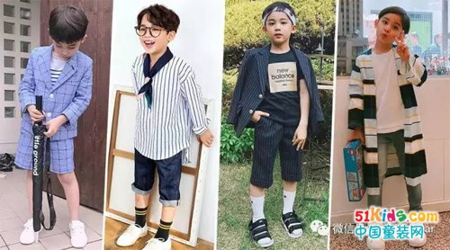 6岁小帅男的时尚演绎,天生模特范超会穿