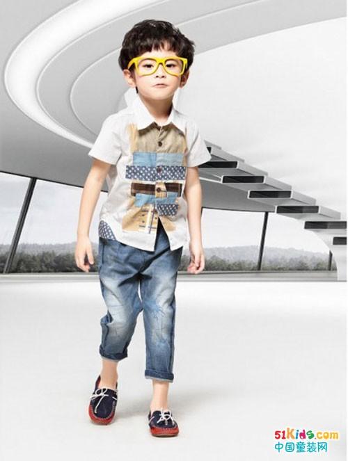 小神童童装 一条马裤的百变时尚!