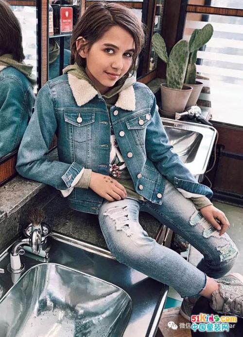 瑞典潮牌H&M 2017秋季童装系列画册——经典牛仔