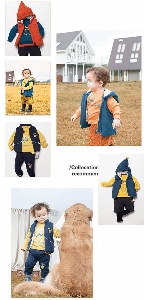 卫衣作为冬季的时尚标   温暖柔软又舒适   小朋友已经迫不及待的裹