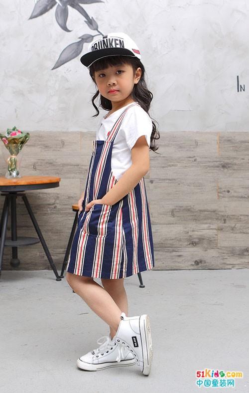 米芝儿童装 百搭的吊带裙如此美丽