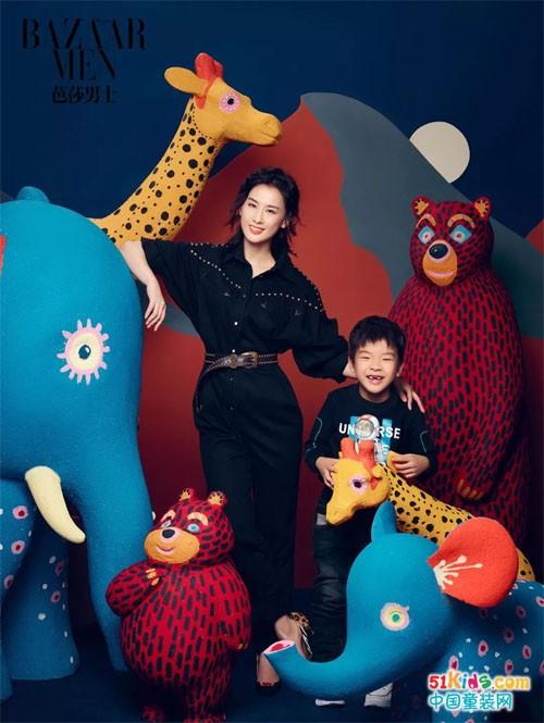 ABC KIDS安迪同款|黄圣依母子拍摄大片登《芭莎男士》封面