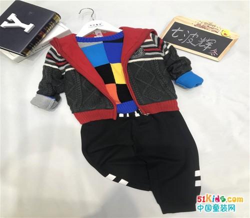 七波辉青少年装品牌冬季新款儿童服装加盟