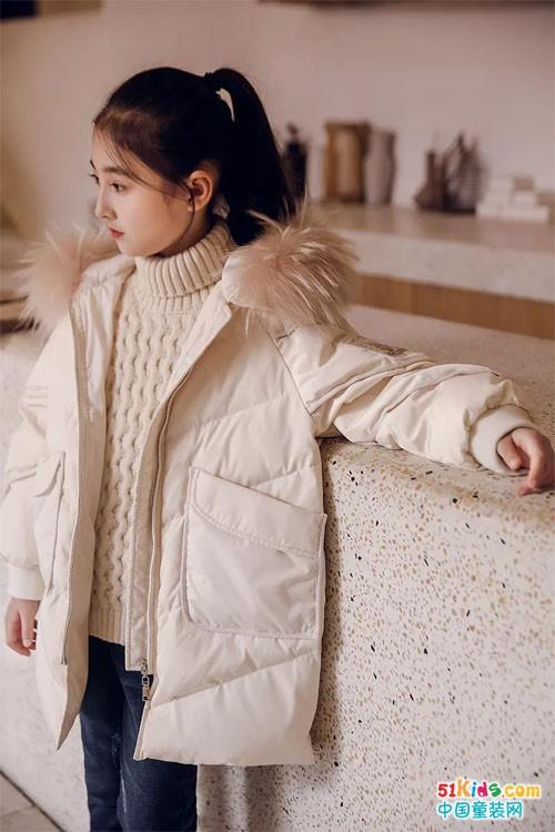 时尚大毛领羽绒服,冬天看得见的温暖