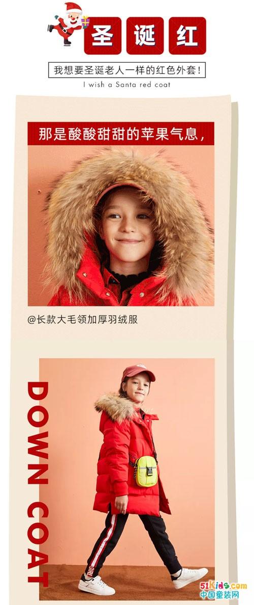 ABC童装 我想要圣诞老人一样的红色外套
