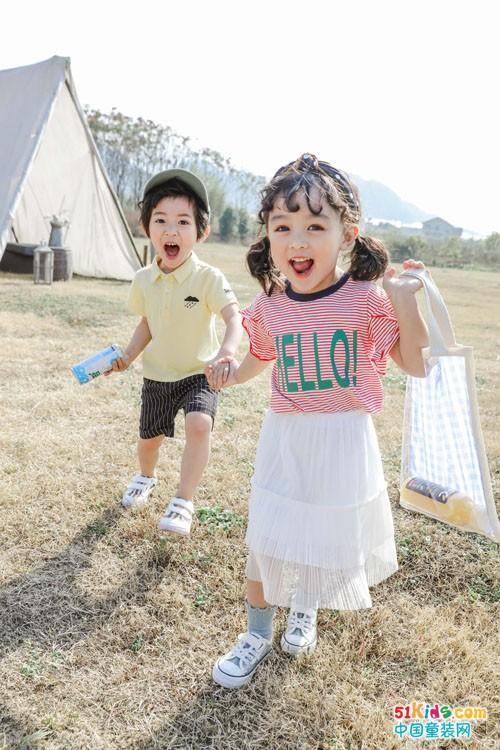 穿上嗒囜童装 疫情过后一起游玩去